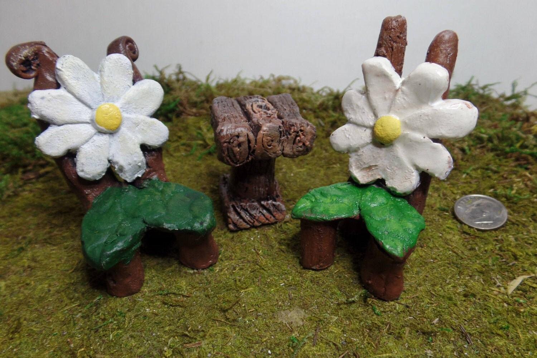 Miniature furniture kit fairy garden furniture terrarium for Indoor gardening accessories