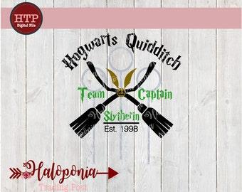 Hogwarts Quidditch Team Captain Slytherin SVG File (Harry Potter)
