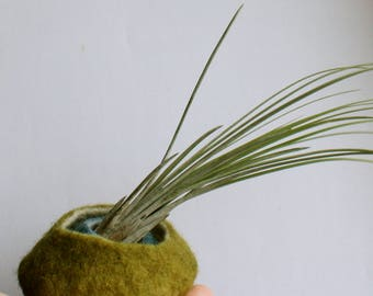 Felted Nesting Bowls // Wool Bowl // Airplant // Wet Felted