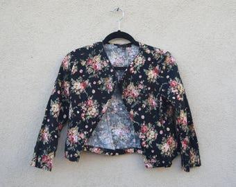 Little Black Floral Blazer