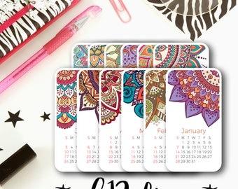 12 Month Calendar Cardstock Die Cuts   Pack of Die Cuts Cardstock Die Cut for Planners, Journals, Scrapbooking, TNs