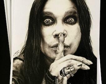 Ozzy Osbourne - Signed Print