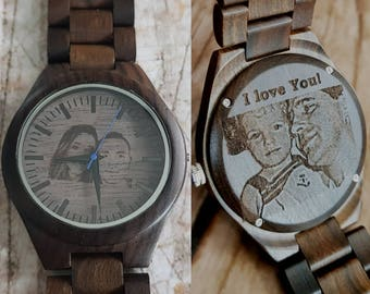 mens wooden watch, engraved mens watch, personalized mens watch, engraved wood watch, personalized wooden watch, fathers day, valentines day