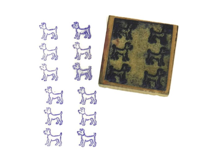 Terrier Dog Rubber Stamp.