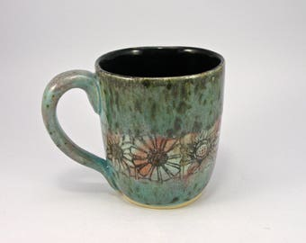 Extra large tea mug beer mug  28 oz. food safe Glaze STONEWARE huge mug