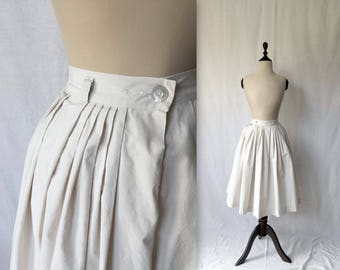1950s cream cotton skirt