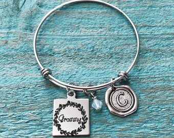 Granny, Granny Gift, Granny Jewelry, Granny Bracelet, First time Granny, New Granny, Charm Bracelet, Silver Necklace, Gift for Granny, Gifts