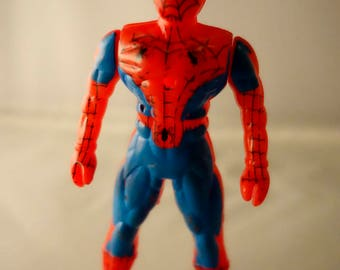 A vintage knock off Spiderman bootleg 80s/90s action figure