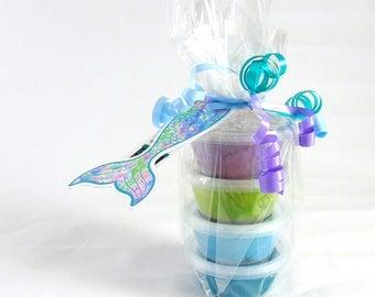 Handmade Child's Dough - Glittery Dough Mermaid colours
