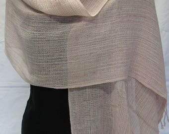Handwoven shawl in hand dyed cotton
