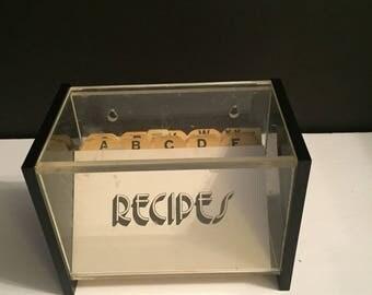 Lucite Recipe Box