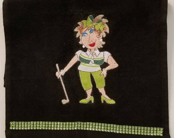 Embroidered Golf Towel