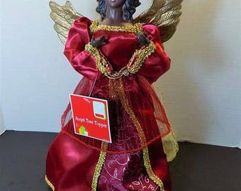 NEW Beautiful Christmas Kawanzaa Tree Topper Angel  Collectible Collector Holiday Gift