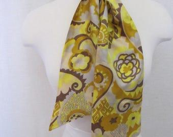 MOD Ascot 1960's Ascot Rayon Ascot Cravat Ascot Tie Scarf Neck Tie