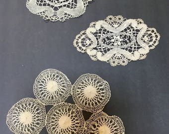Vintage Doilies / Crocheted Doilies  / 3 Pcs. / Home Decor / Collectibles