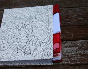 Coloring Altered Journal (Red and White)