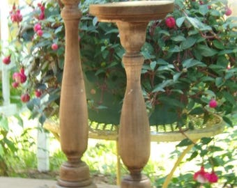 2 Wood Candle Holder Pillar Holder/Wedding Candle Holder Rustic Wedding Centerpiece
