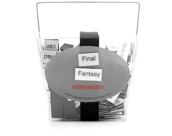 Final Fantasy Poetry Magnets - Refrigerator Word Quote Magnets
