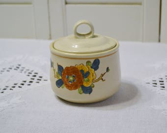 Vintage Metlox Old Cathay Sugar Bowl Vernon Ware Floral Retro Kitchenware Asian Theme California Pottery PanchosPorch