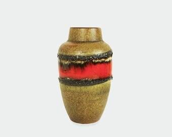 Scheurich West German vase  - 549 - red, black and brown