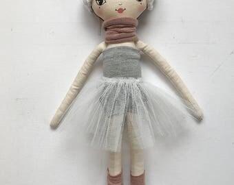 Ballerina Lola Doll, Cloth Doll, Hand made Doll, 45cm tall