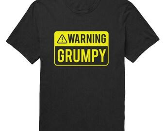 Warning Grumpy Mens T-Shirt | Funny Guy T-Shirt | Grumpy Old Man T-Shirt | Funny Birthday Gifts for Men Boyfriend Husband Father