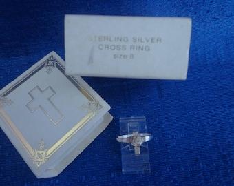 Avon Sterling Silver Cross Ring,1990's Avon Cross Ring