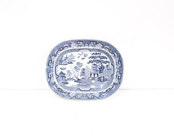 Staffordshire Blue Willow Platter