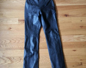 Black Caché leather pants, size 2
