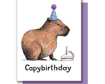 Capybirthday Happy Birthday Capybara Card