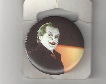 Batman Joker Jack Nicholson Mad Pinback Button
