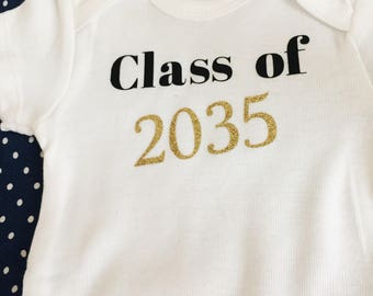 Class of 2035 onesie - graduation gift onesie -  custom baby shower gift - funny onesie
