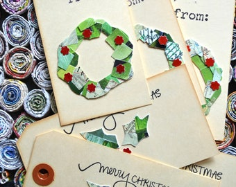 Holiday Gift Tags. Set of six.