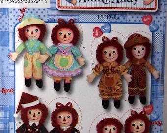 Raggedy Ann & Andy Doll Pattern Simplicity Pattern 3945 Sewing Pattern 2006
