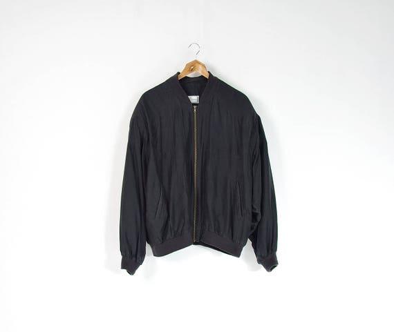 80s San Giovanni Firenze minimal silk bomber jacket / size M-L