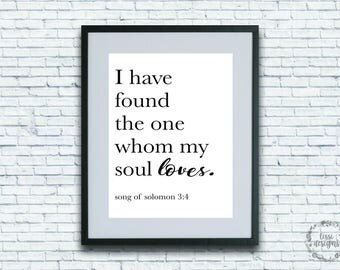 Song of Solomon - Printable Instant Download Wall Art