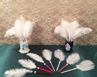 Feather Pens Handmade Pens Feather Pen PARTY FAVORS Wedding Favors Bridal Shower Favors Bachelorette Party Favors Decorations Handmade Pens