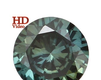 3.10 MM 0.11 Ct Natural Loose Diamond Round Shape Blue Color Si1 Clarity L1564