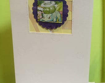Pokémon ~ Handmade Bulbasaur Birthday Card ~ Gotta Catch Em All! Pokemon