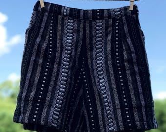 Comfy Woven Shorts: Film Noir