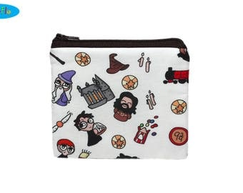 NEW! Potter Coin Purse | Hogwarts Zip Bag | HP Change Purse