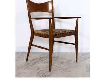 Mid Century Modern Paul McCobb for Calvin Walnut Desk Side Arm Chair 1950s