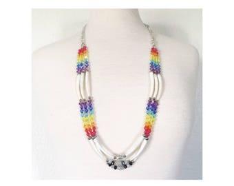 Long dentalium necklace