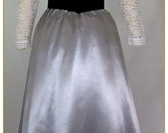 Pewter Satin Skirt