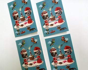 Christmas cards - packet of 4 limited edition, signed and numbered