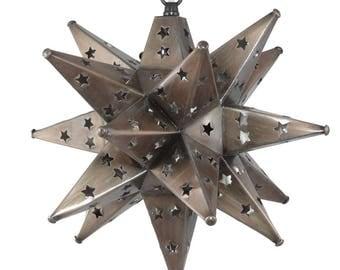 "Moravian Star Light, Star Pierced Tin, Bronze , 12"""