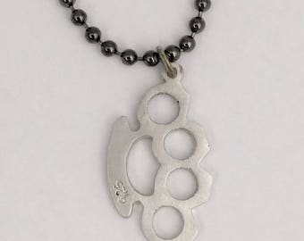Sterling Silver Knuckles Pendant