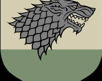 Game of Thrones House Stark Banner Cross Stitch Pattern