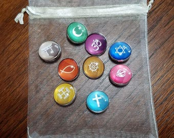 18mm Snap Button Charms - Religion