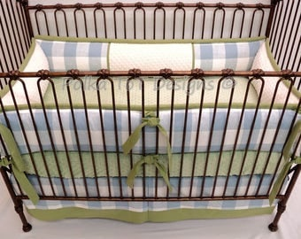 Bufflao Check Baby Bedding  Blue & Green